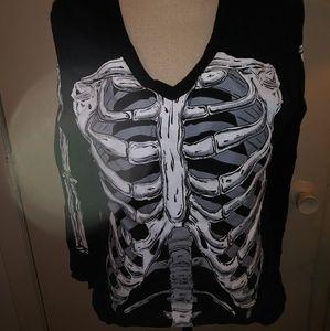 Dresses & Skirts - Skeleton long sleeve shirt